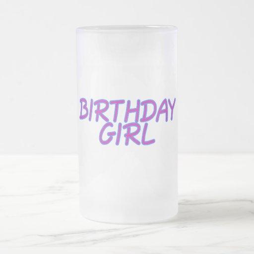 Chica del cumpleaños tazas