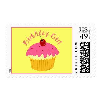 Chica del cumpleaños timbres postales