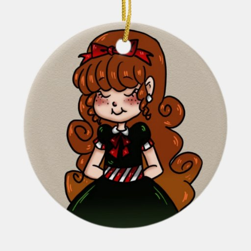 Chica del día de fiesta ornaments para arbol de navidad