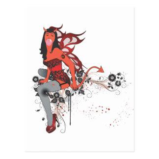 Chica del diablo II Postales