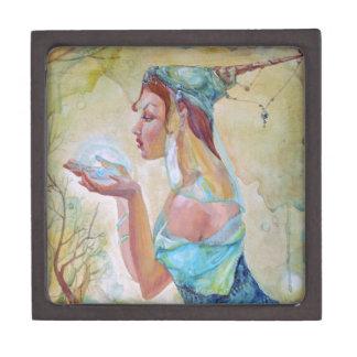 Chica del duende cajas de recuerdo de calidad