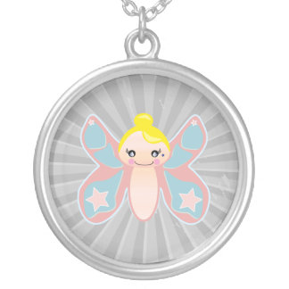 chica del duendecillo de la mariposa joyeria