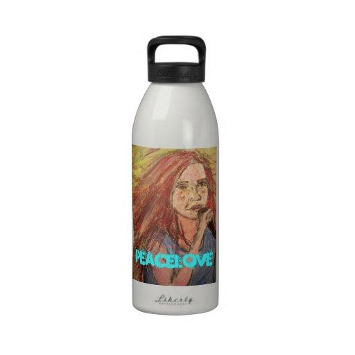 Chica del eje de balancín de PeaceLove Botella De Agua