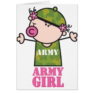 Chica del ejército de GoochiCoo Felicitacion