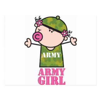 Chica del ejército de GoochiCoo Tarjeta Postal