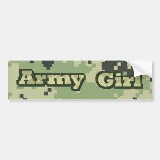 Chica del ejército pegatina para auto
