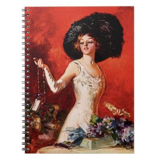 Chica del encanto de Edwardian Cuadernos