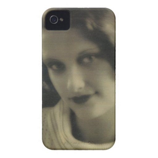 Chica del encanto de la foto del vintage Case-Mate iPhone 4 cárcasas