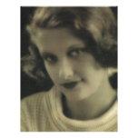 Chica del encanto de la foto del vintage membrete a diseño