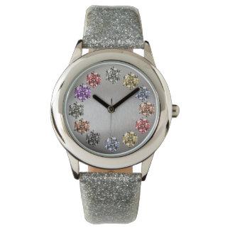 Chica del encanto del estilo de la piedra preciosa relojes de mano