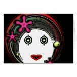 Chica del espacio de la flor felicitación
