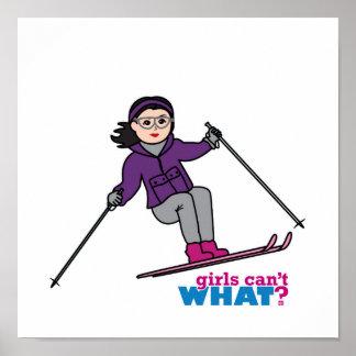 Chica del esquí - medio impresiones