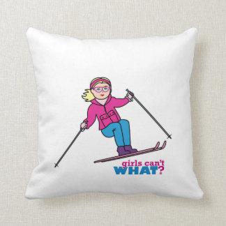 Chica del esquiador cojin