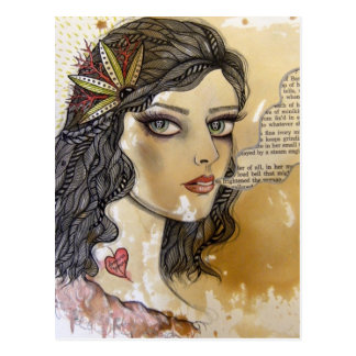 Chica del fantasma tarjeta postal