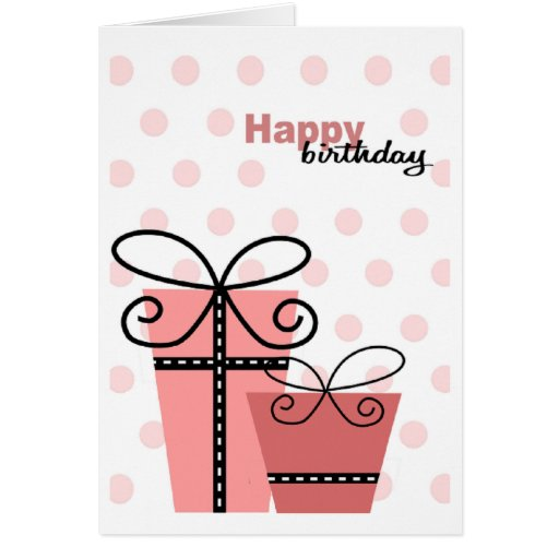 Chica del feliz cumpleaños tarjeton