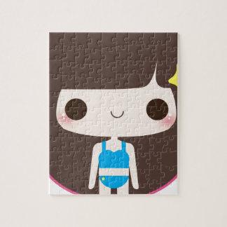 Chica del flip-flop rompecabezas con fotos