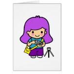 Chica del fotógrafo tarjeton