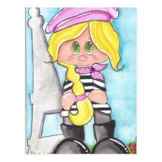 Chica del francés de Lil Tarjeta Postal