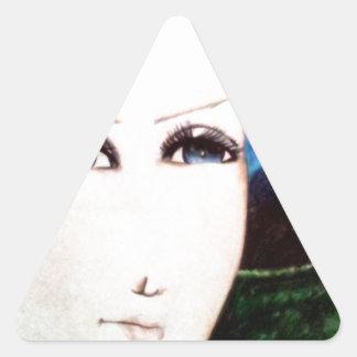 Chica del Fraulein Pegatina Triangular