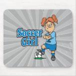 chica del fútbol alfombrilla de raton