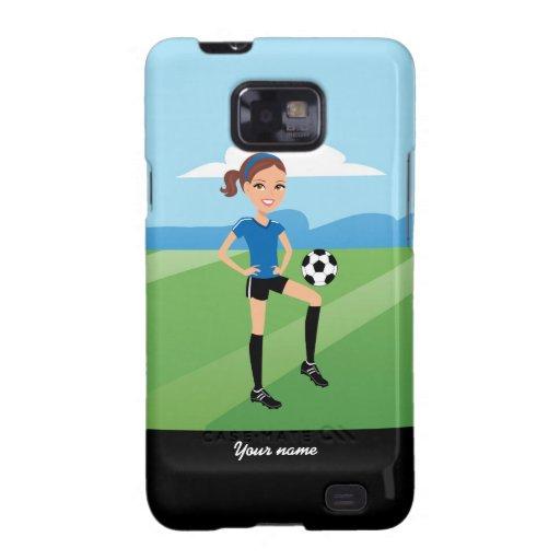 Chica del fútbol galaxy s2 carcasa