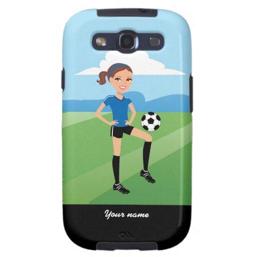 Chica del fútbol galaxy s3 protector