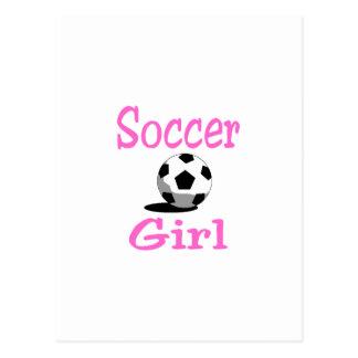 Chica del fútbol postales
