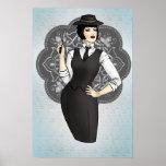 chica del gángster de los años 20 posters