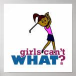 Chica del golfista poster