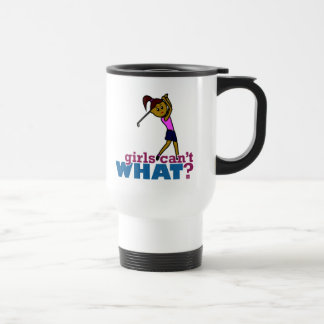Chica del golfista tazas de café