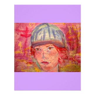 "chica del gorra de la media folleto 8.5"" x 11"""