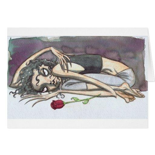 Chica del gótico con el rosa felicitacion