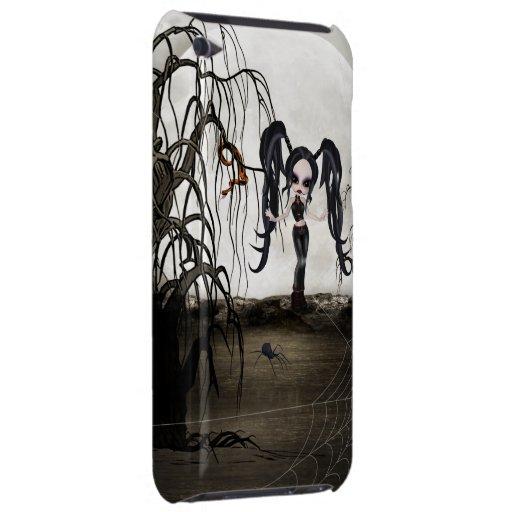 Chica del gótico de la sepia iPod Case-Mate coberturas