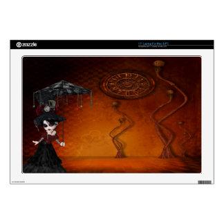 Chica del gótico de Steampunk y piel surrealista Portátil 43,2cm Skin