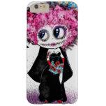 Chica del gótico del zombi, día de PinkyP muerto Funda Para iPhone 6 Plus Barely There