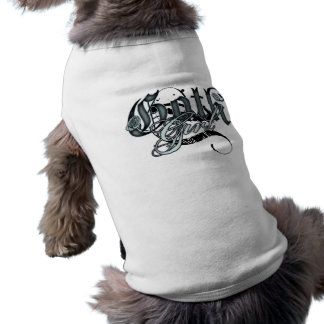 Chica del gótico playera sin mangas para perro
