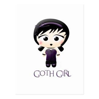 Chica del gótico postal