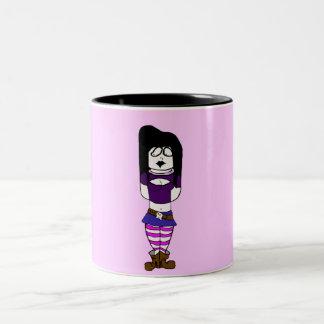 Chica del gótico tazas de café