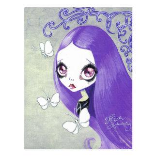 "Chica del gótico: ""Violetta "" Tarjetas Postales"