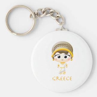 Chica del griego clásico llaveros