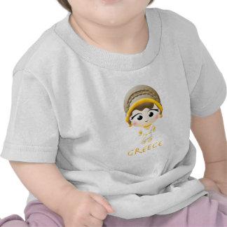 Chica del griego clásico camiseta