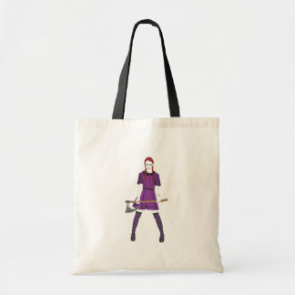 Chica del hacha bolsa tela barata