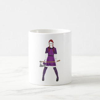 Chica del hacha taza