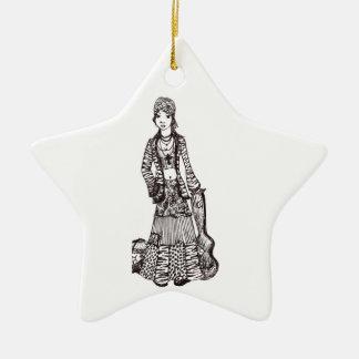 Chica del Hippie con los productos del personaliza Adorno De Reyes