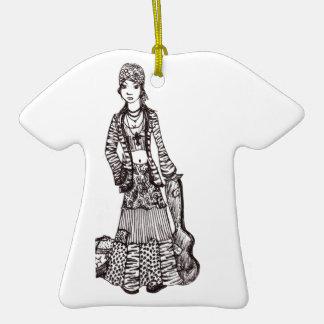 Chica del Hippie con los productos del personaliza Adornos