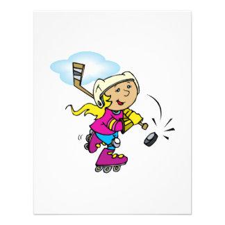 Chica del hockey del rodillo anuncios personalizados