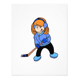 Chica del hockey anuncio personalizado