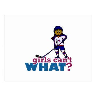 Chica del hockey tarjetas postales