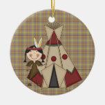 Chica del indio del nativo americano de la colecci ornato