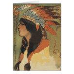 Chica del indio del vintage tarjetas